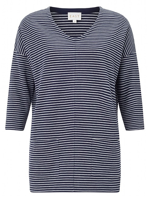 Stripe Rib Jersey Top