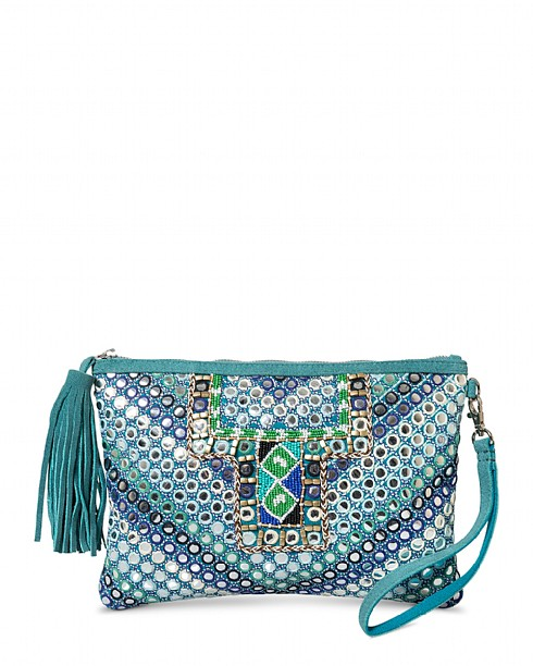Mirror Embroidered Clutch
